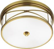Robert Abbey 1985 Chase Contemporary Antique Brass Flush Ceiling Light Fixture