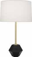 Robert Abbey 200 Marcel Contemporary Brass with Matte Black Faceted Table Lamp Lighting