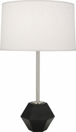 Robert Abbey 201 Marcel Contemporary Polished Nickel with Matte Black Faceted Table Top Lamp