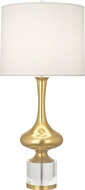 Robert Abbey 209 Jeannie Brass with Clear Crystal Table Light