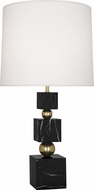 Robert Abbey 238 Jonathan Adler Totem Contemporary Brass with Black Marble Table Top Lamp
