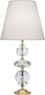 Robert Abbey 260 Williamsburg Orlando Clear Crystal with Brass Side Table Lamp