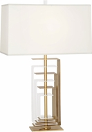 Robert Abbey 279 Braxton Contemporary Brass with Clear Acrylic Table Lamp