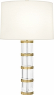 Robert Abbey 299 Wyatt Clear Crystal and Brass Table Top Lamp