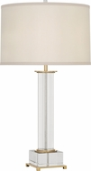Robert Abbey 359 Williamsburg Finnie Brass with Clear Lead Crystal Side Table Lamp