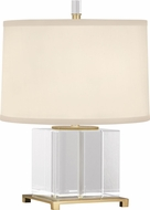 Robert Abbey 362 Williamsburg Finnie Brass with Clear Lead Crystal Table Lamp