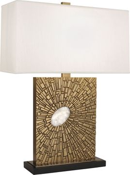 Robert Abbey 415 Goliath Modern Antiqued Brass with White Rock Crystal Table Lighting