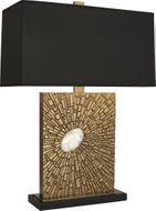 Robert Abbey 415B Goliath Contemporary Antiqued Brass with White Rock Crystal Table Lighting