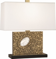 Robert Abbey 416 Goliath Contemporary Antiqued Brass with White Rock Crystal Table Lamp