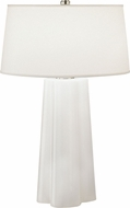 Robert Abbey 434 Wavy Modern White Cased Glass with Polished Nickel Table Light