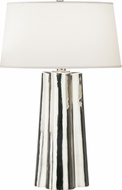 Robert Abbey 435 Wavy Contemporary Silver Mercury Glass with Polished Nickel Table Lighting