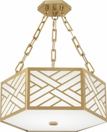 Robert Abbey 439 Williamsburg Tazewell Brass LED Ceiling Light Fixture