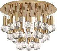 Robert Abbey 754 Jonathan Adler Milano Polished Brass with Crystal Overhead Lighting Fixture
