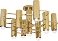 Robert Abbey 804 Jonathan Adler Milano Contemporary Polished Brass Ceiling Light
