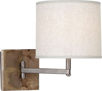 Robert Abbey 829 Oliver UnMango Wood with Patina Nickel Wall Swing Arm Lamp