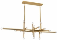 Robert Abbey 905 Jonathan Adler Milano Contemporary Polished Brass Island Lighting