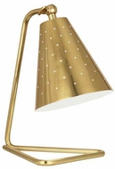 Robert Abbey 988 Pierce Contemporary Modern Brass Accent Lamp