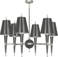 Robert Abbey A604 Jonathan Adler Versailles Modern Ash Lacquered Paint with Polished Nickel Hanging Chandelier