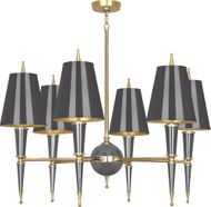 Robert Abbey A904 Jonathan Adler Versailles Contemporary Ash Lacquered Paint with Brass Chandelier Lighting