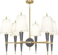 Robert Abbey A904X Jonathan Adler Versailles Contemporary Ash Lacquered Paint with Brass Lighting Chandelier