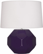 Robert Abbey AM01 Franklin Amethyst Glazed Ceramic 13  Table Lighting