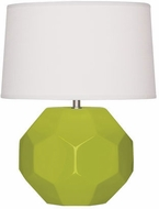 Robert Abbey AP02 Franklin Apple Glazed Ceramic 9  Side Table Lamp