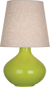 Robert Abbey AP991 June Apple Glazed Ceramic with Polished Nickel 31 Lighting Table Lamp