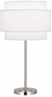 Robert Abbey AW131 Decker Modern Polished Nickel Table Lamp Lighting