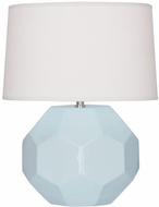 Robert Abbey BB01 Franklin Baby Blue Glazed Ceramic 13  Table Top Lamp