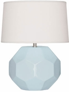 Robert Abbey BB02 Franklin Baby Blue Glazed Ceramic 9  Side Table Lamp