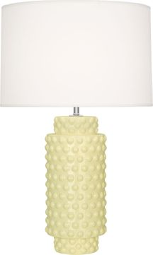Robert Abbey BT800 Dolly Butter Glazed Textured Ceramic 28 Table Lamp