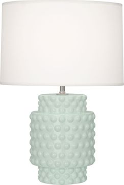 Robert Abbey CL801 Dolly Celadon Glazed Textured Ceramic 21 Table Lamp