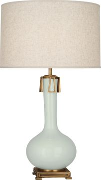 Robert Abbey CL992 Athena Celadon Glazed Ceramic with Aged Brass Table Lamp Lighting