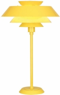 Robert Abbey CY780 Pierce Modern Canary Yellow Gloss Lighting Table Lamp