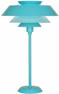 Robert Abbey EB780 Pierce Contemporary Egg Blue Gloss Table Lamp