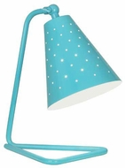 Robert Abbey EB988 Pierce Modern Egg Blue Gloss Accent Lamp