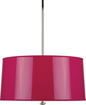 Robert Abbey F808 Penelope Contemporary Polished Nickel Drum Hanging Lamp