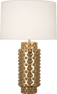 Robert Abbey G800 Dolly Textured Ceramic with Gold Metallic Glaze 28 Table Top Lamp