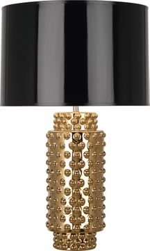 Robert Abbey G800B Dolly Textured Ceramic with Gold Metallic Glaze 28 Side Table Lamp