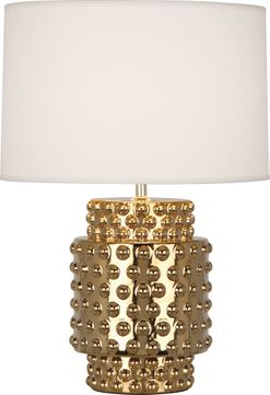 Robert Abbey G801 Dolly Textured Ceramic with Gold Metallic Glaze 21 Table Lamp