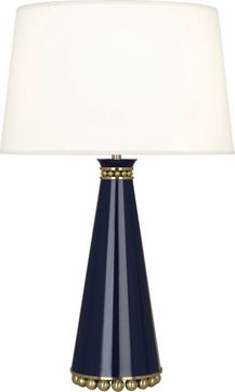 Robert Abbey MB44X Pearl Midnight Blue Lacquered Paint with Brass 29 Lighting Table Lamp