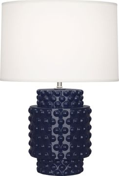 Robert Abbey MB801 Dolly Midnight Blue Glazed Textured Ceramic 21 Table Lamp