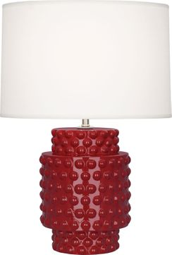 Robert Abbey OX801 Dolly Oxblood Glazed Textured Ceramic 21 Table Lamp