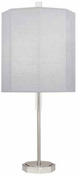 Robert Abbey PG05 Kate Polished Nickel Table Light