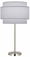 Robert Abbey PG131 Decker Contemporary Polished Nickel Lighting Table Lamp