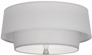 Robert Abbey PG144 Decker Contemporary Polished Nickel Flush Lighting