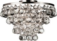 Robert Abbey S1002 Bling Contemporary Polished Nickel Overhead Light Fixture