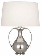 Robert Abbey S1370 Belvedere Contemporary Polished Nickel Table Top Lamp