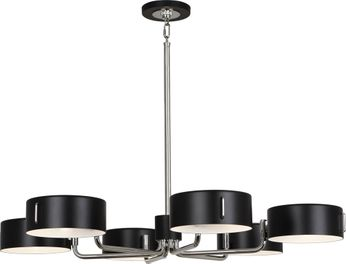 Robert Abbey S1551 Simon Contemporary Polished Nickel Chandelier Light