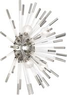 Robert Abbey S167 Andromeda Contemporary Polished Nickel with Clear Acrylic Rods Wall Light Sconce